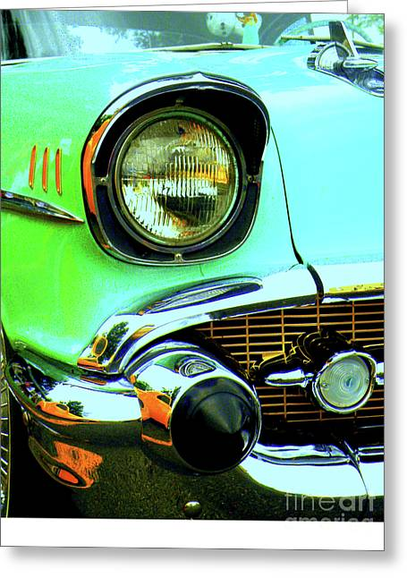 Rusted Cars Greeting Cards - One Eyed Monster Greeting Card by Joe Jake Pratt