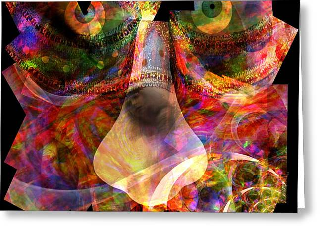 Visionary ist Mixed Media Greeting Cards - One Face of the Carnaval Greeting Card by Fania Simon