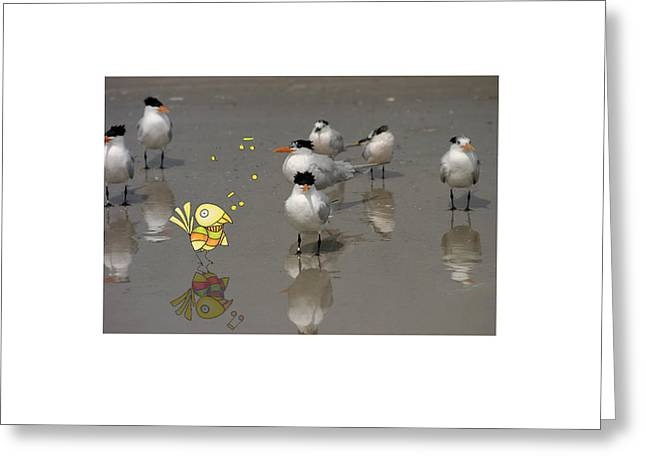 Tern Mixed Media Greeting Cards - One Good Tern... Greeting Card by Jane Melgaard