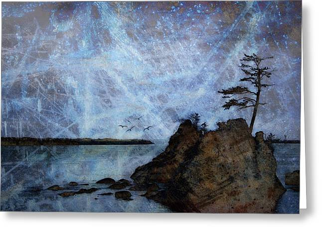 Oregon Coast Greeting Cards - One Grace Greeting Card by Carol Leigh