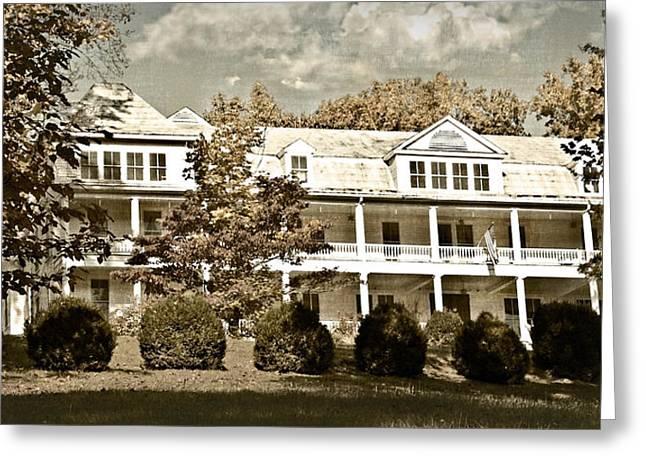 Susan Leggett Greeting Cards - One Hundred Year old Mountain Inn Greeting Card by Susan Leggett