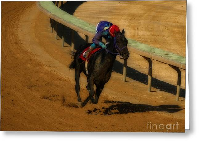 Horseback Riding Digital Art Greeting Cards - One is the Loneliest Number Greeting Card by Steven  Digman