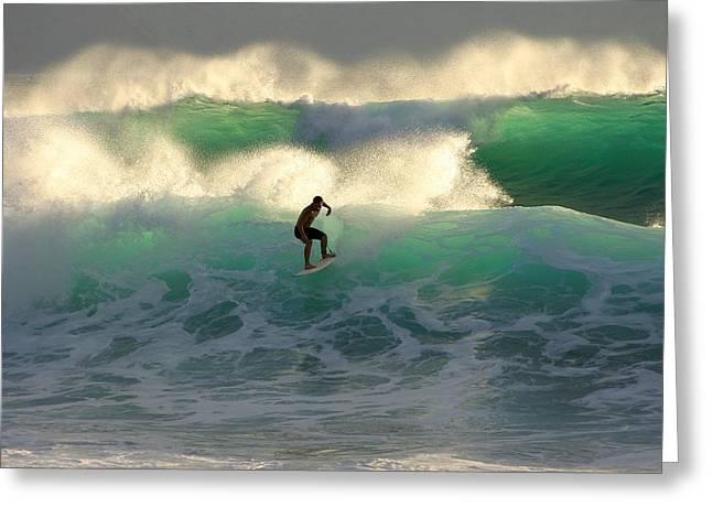 ; Maui Greeting Cards - One last wave Dumps Maui Hawaii Greeting Card by Pierre Leclerc Photography