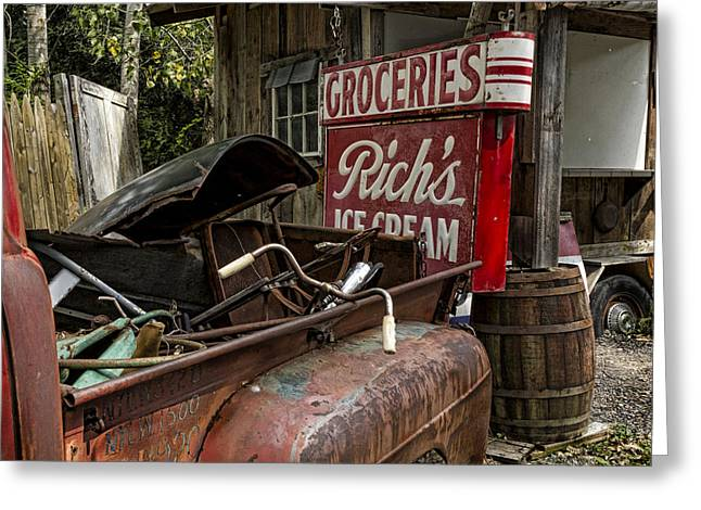 Rusty Pickup Truck Greeting Cards - One Mans Treasure Greeting Card by Peter Chilelli