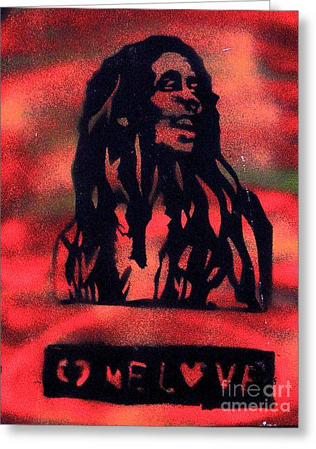 First Amendment Greeting Cards - One Marley Greeting Card by Tony B Conscious