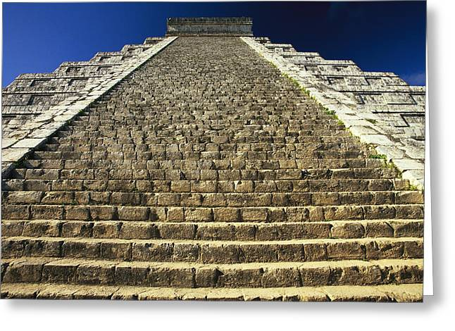 One Of The Four Stairways Of El Greeting Card by Michael Melford
