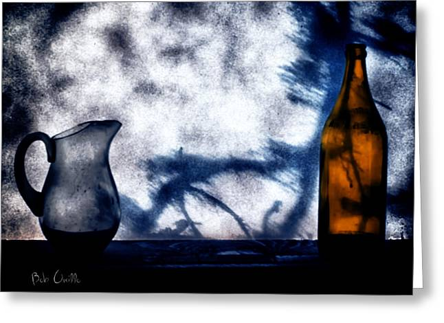 Shadows Greeting Cards - One Red Bottle Greeting Card by Bob Orsillo