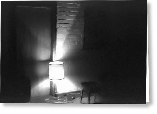 Tuer Greeting Cards - One Room One Light -- Ein Zimmer ein Licht Greeting Card by Arthur V Kuhrmeier