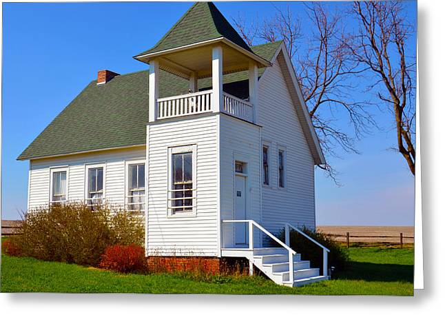 Country Schools Greeting Cards - One Room School House No.2 Greeting Card by Christine Belt