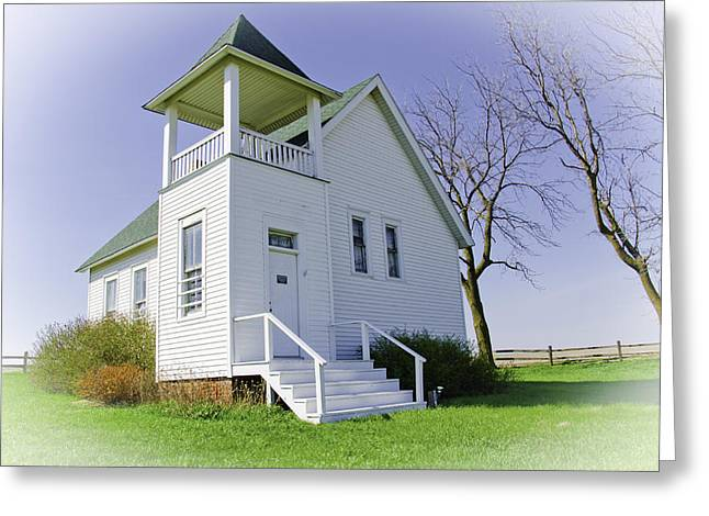 Country Schools Greeting Cards - One Room School House No.3 Greeting Card by Christine Belt