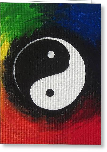 Yang Greeting Cards - One Greeting Card by Sandy Tracey
