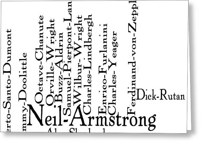 Neil Armstrong Greeting Cards - One small step... Greeting Card by David Bearden