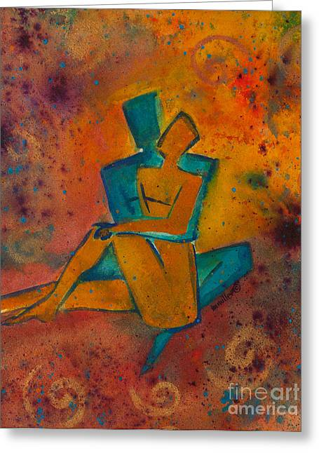 Best Sellers -  - Empowerment Greeting Cards - One Soul Greeting Card by Ilisa  Millermoon