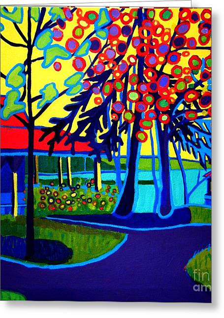 Ocean Springs Yacht Club Greeting Cards - One Spring Day Manchester-by-the-sea Greeting Card by Debra Bretton Robinson