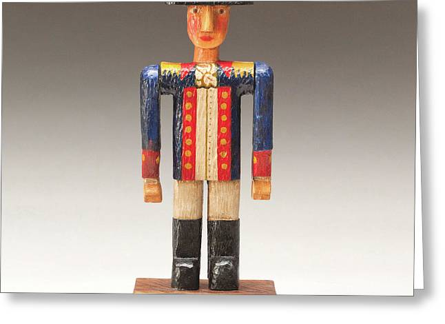 Wood Art Sculptures Greeting Cards - One Tin Soldier Greeting Card by James Neill