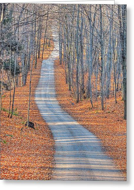 Dappled Light Greeting Cards - One Way Home Greeting Card by Bruce Kenny