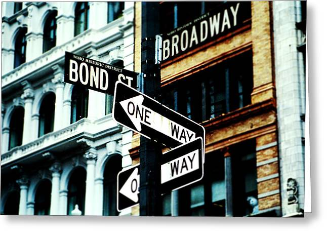 Choosing Mixed Media Greeting Cards - One Way Junction Greeting Card by Jenn Bodro