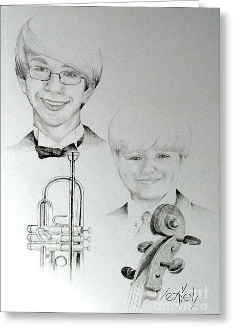 Caucasion Greeting Cards - One with the music Greeting Card by Bill Leavell