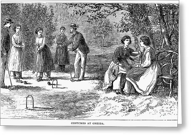Oneida Greeting Cards - Oneida Community, 1875 Greeting Card by Granger
