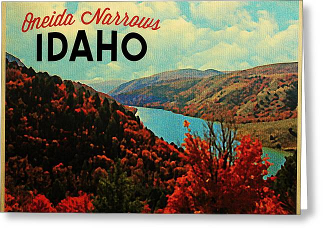 Oneida Greeting Cards - Oneida Narrows Idaho Greeting Card by Flo Karp