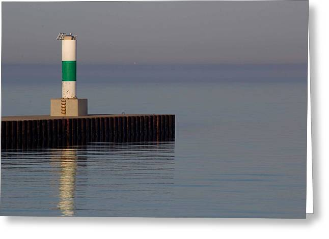 Onekama Light Station Greeting Card by Twenty Two North Photography