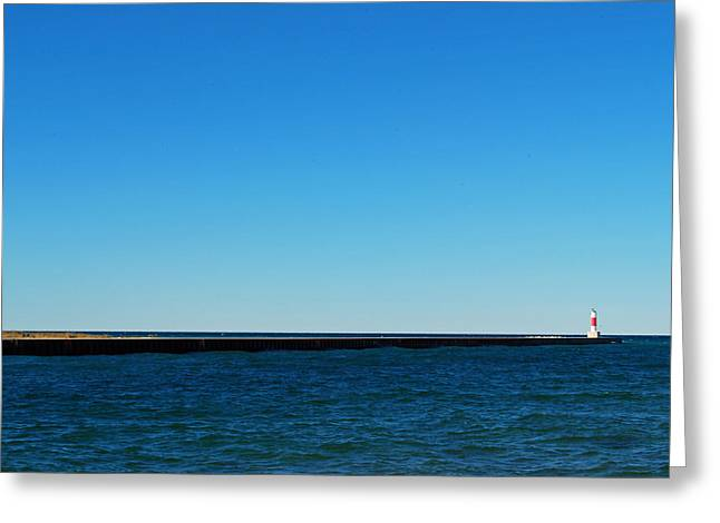 Onekama Pier Greeting Card by Twenty Two North Photography
