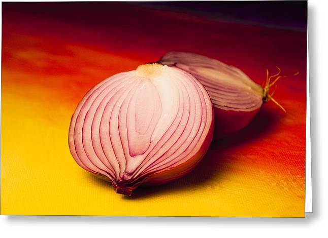Gradations Greeting Cards - Onion slice Greeting Card by Kyle Matheney
