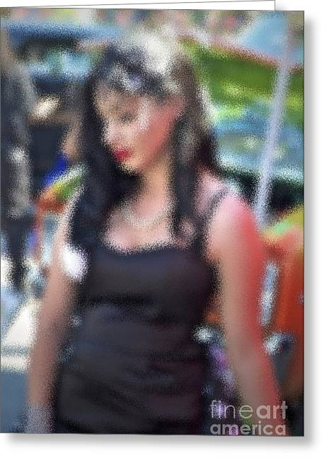 Exotic Women Greeting Cards - Only Love Greeting Card by Gwyn Newcombe