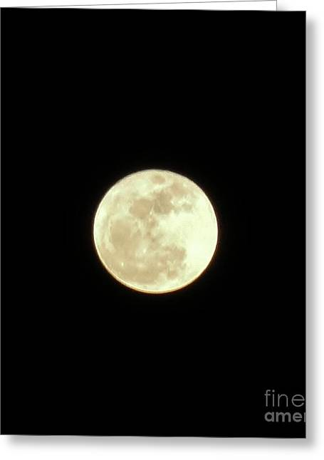 Only The Moon Greeting Card by Elizabeth Hernandez