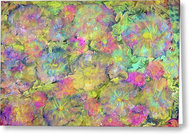 Opalescent Greeting Cards - Opalescent Painting Greeting Card by Don Wright