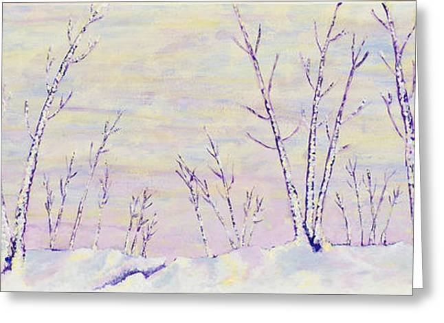 Opalescent Winter Greeting Card by Sharon Gill