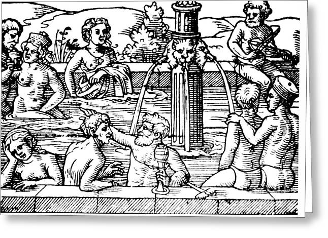 Open-air Bath Balneology 1571 Greeting Card by Science Source