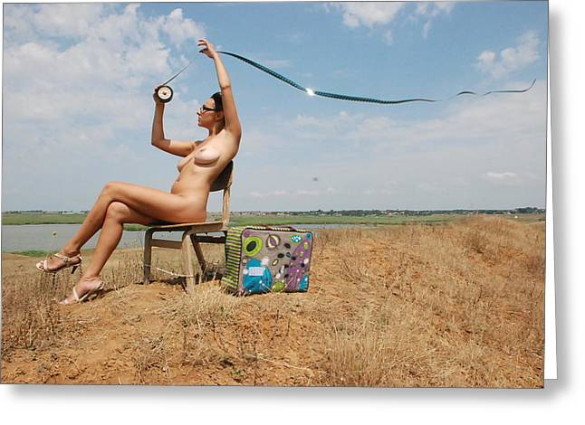 open air cinema Greeting Card by Svetlana  Sokolova