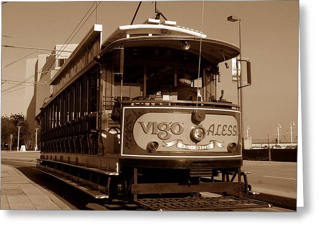 Trolley Car Greeting Cards - Open air trolley Greeting Card by David Lee Thompson