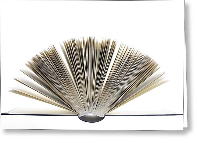 Diary Greeting Cards - Open Book Greeting Card by Frank Tschakert