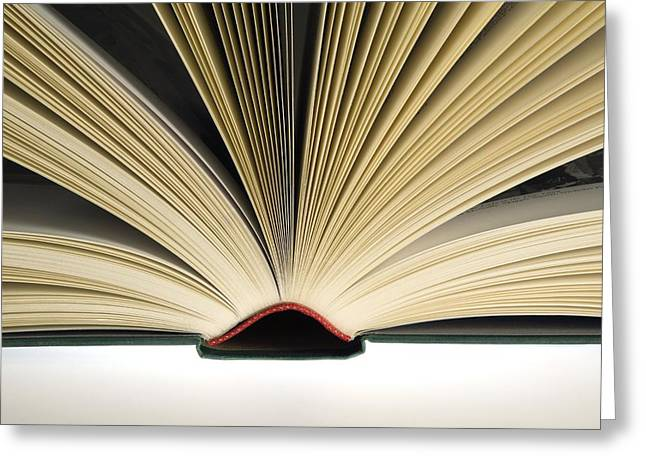 Open Book Greeting Card by Steve Horrell