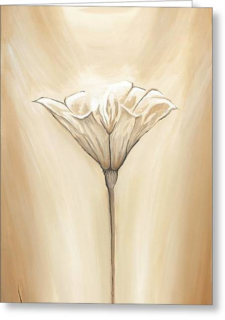 Demure Greeting Cards - Open Flower Greeting Card by David Junod
