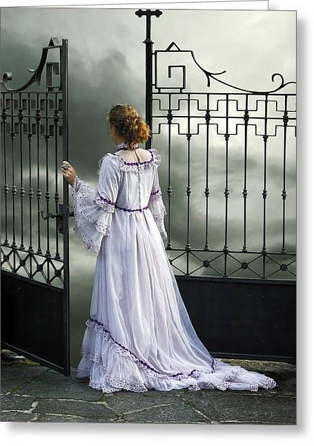 Wedding Garment Greeting Cards - Open Gate Greeting Card by Joana Kruse