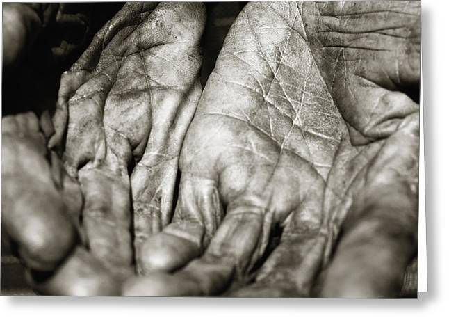 Senior Citizen Greeting Cards - Open Hands Greeting Card by Skip Nall