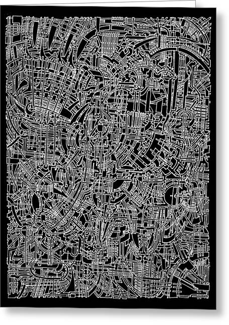 Circuit Drawings Greeting Cards - Open Landscape 1 Greeting Card by Power City Images