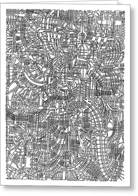 Circuit Drawings Greeting Cards - Open Landscape 2 Greeting Card by Power City Images