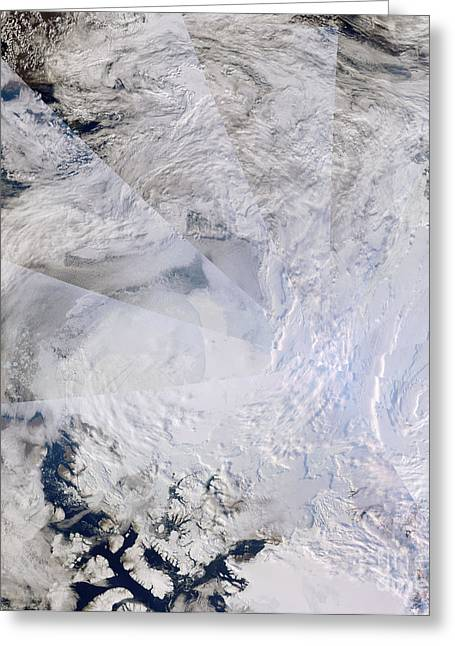 Climate Change Greeting Cards - Open Northwest Passage Greeting Card by Nasa