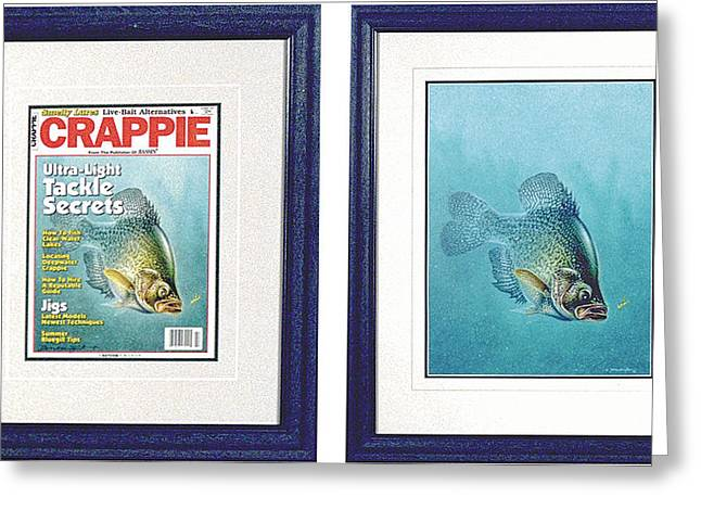 Bobber Greeting Cards - Open Water Crappie Greeting Card by JQ Licensing