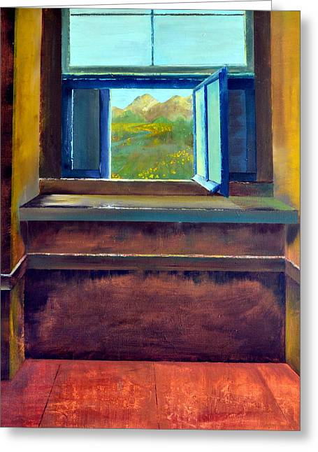 Ledge Greeting Cards - Open Window Greeting Card by Michelle Calkins