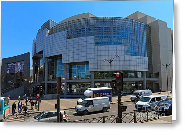 Bastille Photographs Greeting Cards - Opera de Paris Bastille Greeting Card by Louise Heusinkveld