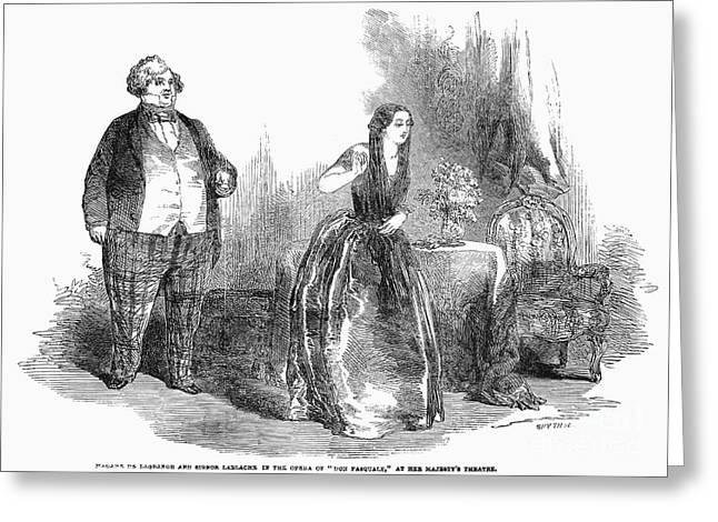 La Grange Greeting Cards - Opera: Don Pasquale, 1852 Greeting Card by Granger