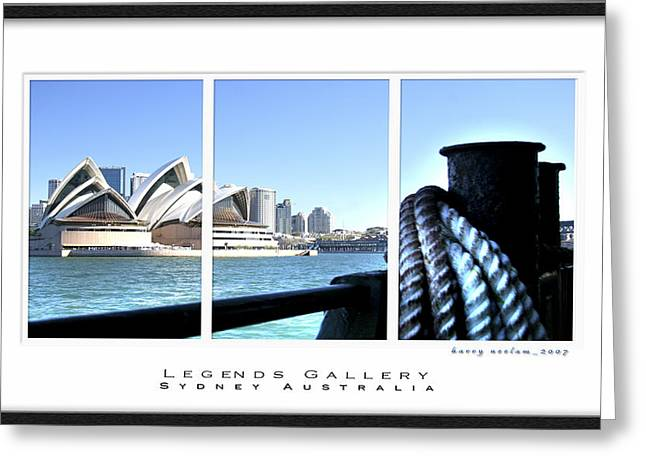Seascape With A Boat Greeting Cards - Opera House Sydney Tryptych  Greeting Card by Harry Neelam