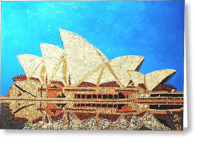 Buildings Reliefs Greeting Cards - Opera of Sydney Greeting Card by Kovats Daniela