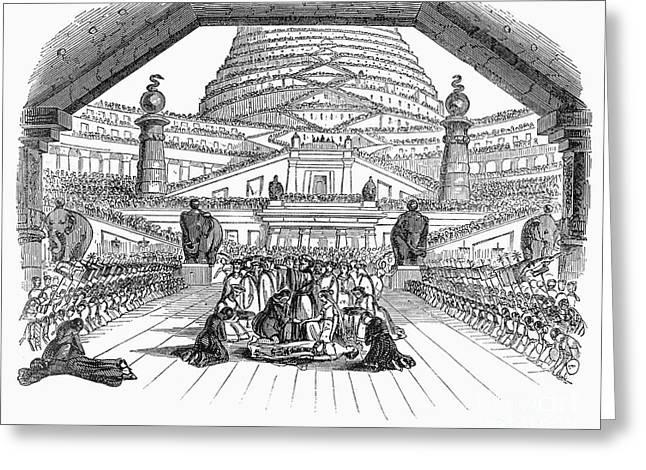 1842 Photographs Greeting Cards - Opera: Semiramide, 1842 Greeting Card by Granger