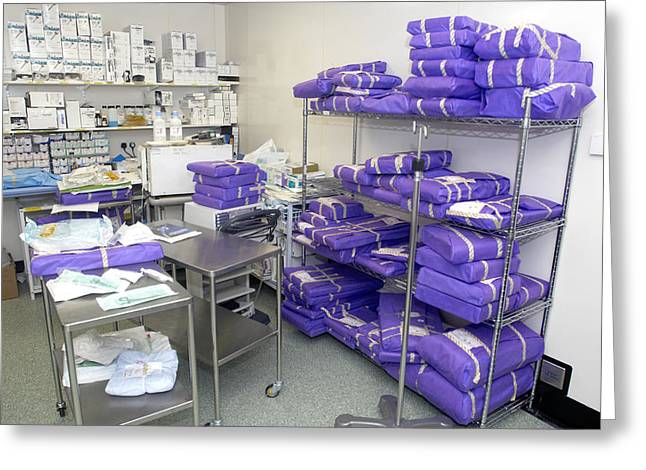 Room Box Greeting Cards - Operating Theatre Supplies Store Greeting Card by Mr Gordon Muirtony Mcconnell